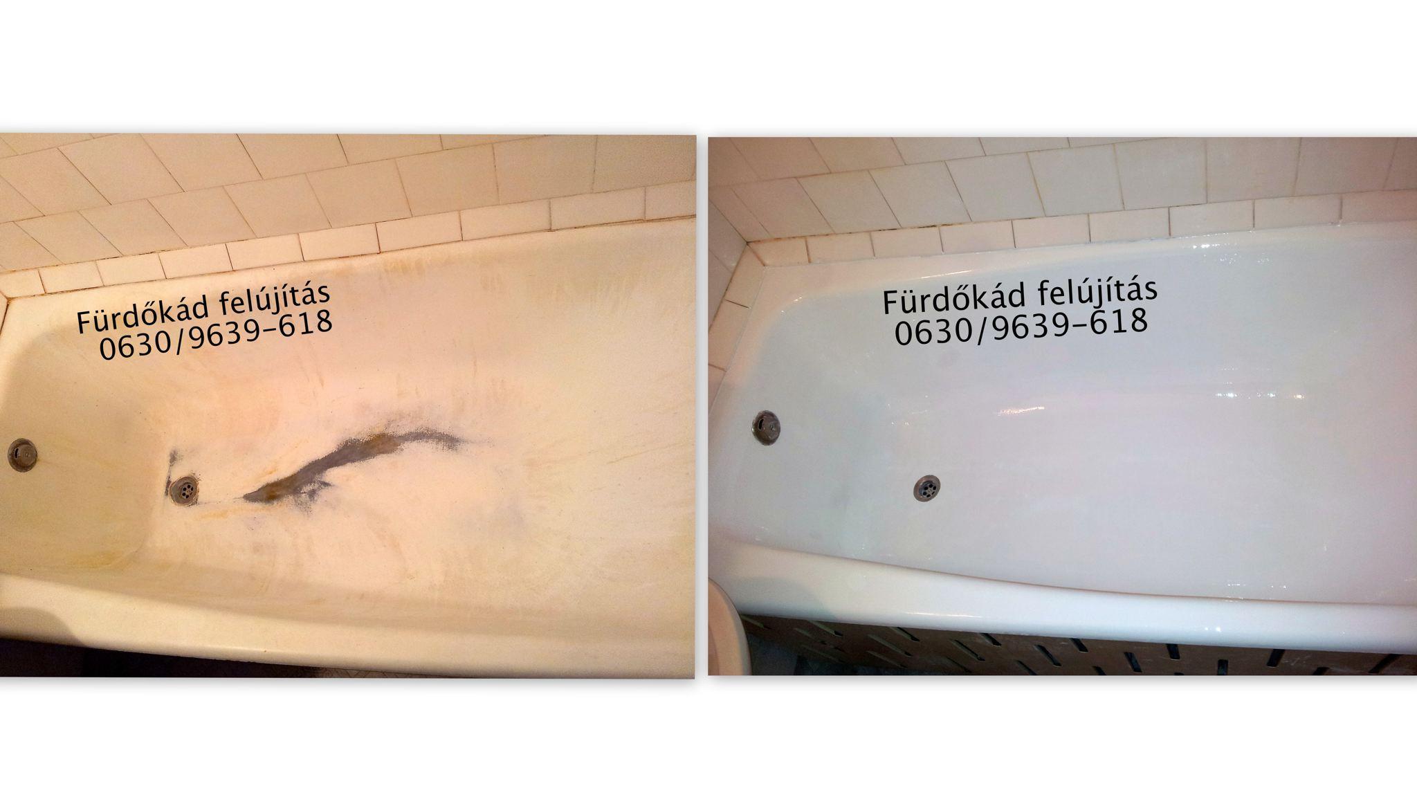 Fürdőkád felújítás (Festés) Szegeden 0630/9639-618 ...